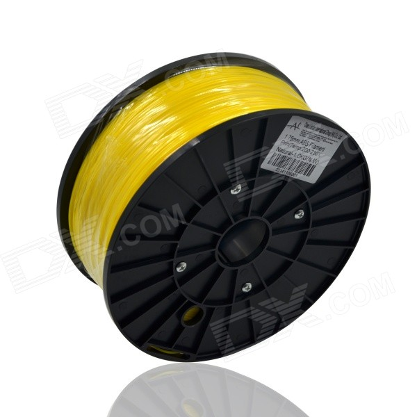 Replacement Consumable 1.75mm ABS Wire for 3D Printer - Yellow (300m)