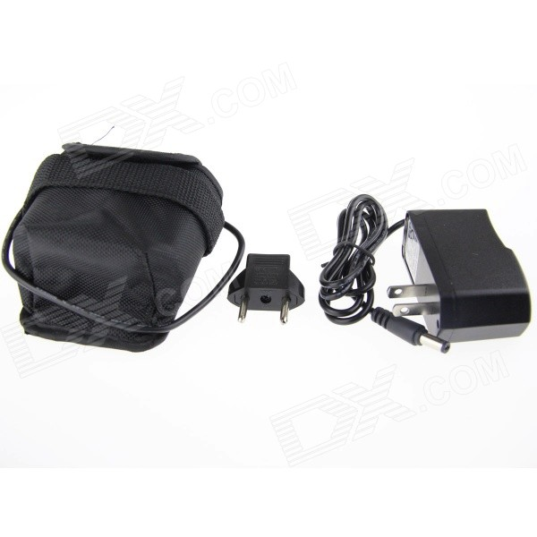 8.4V 6000mAh Rechargeable 8 x 18650 Battery Pack with Charger for Bike Light - Black