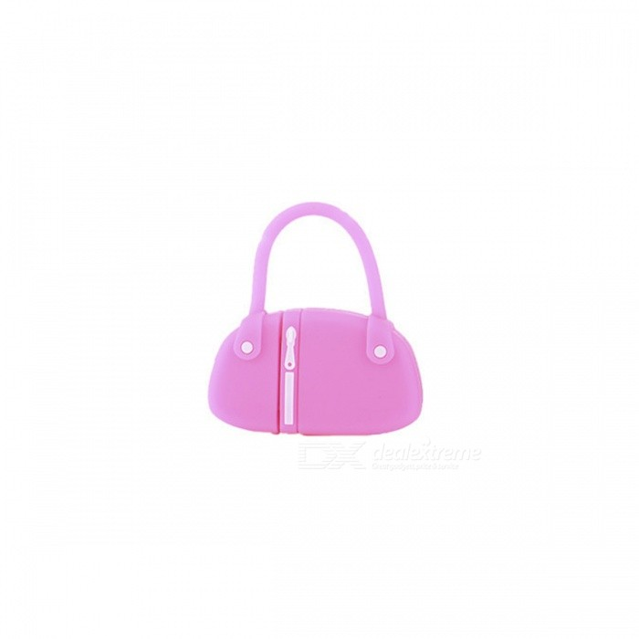 estilo mini bolsa USB 2.0 flash drive - rosa escuro + preto (32GB)