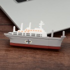 Mini Aircraft Carrier Style USB 2.0 Flash Drive - White + Grey (64GB)