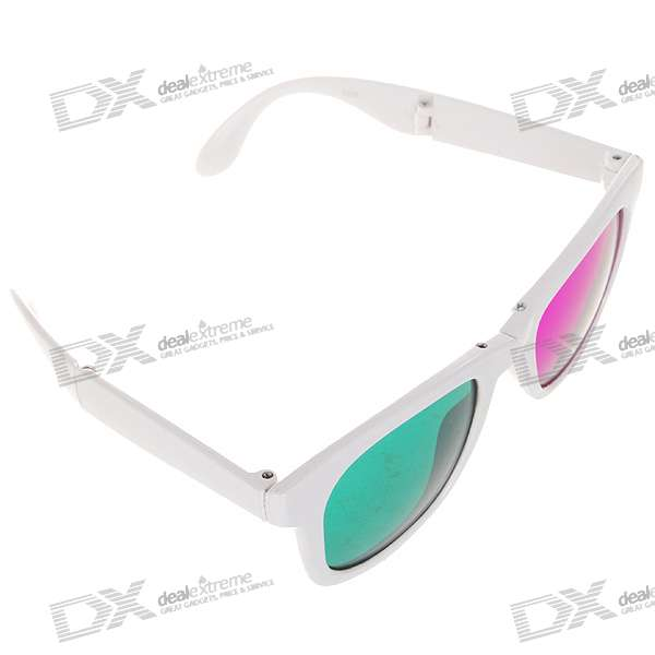 Stylish Foldable Plastic Lens Magenta + Green 3D glasses