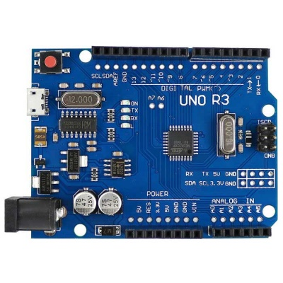 Micro USB ATmega328P Development Board for Arduino UNO R3 -Blue+Black