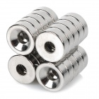 NdFeB N35 Square Magnet w/ Hole - Silver (12*4mm / 20PCS)