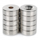 NdFeB N35 Square Magnet w/ Hole - Silver - Silver (15*5mm/10PCS)