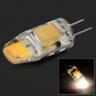 HH202 G4 3W 180lm 3500K COB LED warmes weißes Licht Lampe - Transparent Weiß + Golden Yellow (12V)