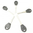 B225 5-in-1 Stainless Steel Car Lock Pick Set - Black