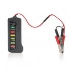 12V Digital Car Battery Alternator Tester Diagnostic Tool w/ 6 LED Indicator Lights - Black