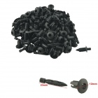 CARKING 5mm-Hole Vehicle Door Rivet Fastener - Black (100PCS)