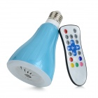 Creative E2715W 6000K LED Lamp / Bluetooth V3.0 Smart Speaker w/ Remote Control - Light Blue + White