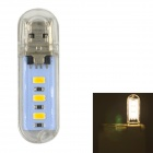 USB 2.0 1W 60lm 3x5730 LED Warm White Light USB Lamp