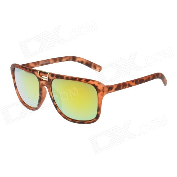 SCREW Matte Leopard Frame UV400 Sunglasses - Yellow REVO