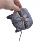 NEJE 3D Effect Cartoon Cat Style Coin Purse Case Pouch - Grey