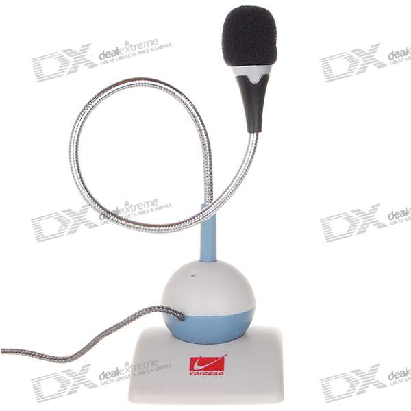 Swivel Desktop Microphone with Flexible Neck (3.5mm Jack)