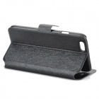 Protective PU Leather Flip-Open Case w/ Stand for IPHONE 6 - Black
