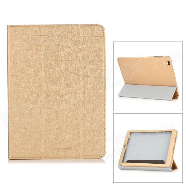"PU Leather Flip Open Case w/ Stand for 9.7"" CUBE T9 - Golden"