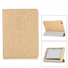 "Protective PU Leather Flip Open Case w/ Stand for 9.7"" CUBE T9 - Golden"