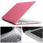"Mr.northjoe 3-in-1 Matte Hard Case + Keyboard Cover + Anti-dust Plugs for MACBOOK AIR 13.3"" - Pink"