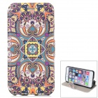 """Tribal Pattern Flip-open PU Leather Case w/ Holder for IPHONE 6 4.7"""" - Purple + Multicolored"""