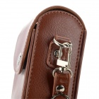 Litsi Pattern Anti-Shock Suojaava PU Leather kameralaukku - Brown