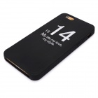 Loving Couple's Lettering Silicone Case for IPHONE 6 - Black + White