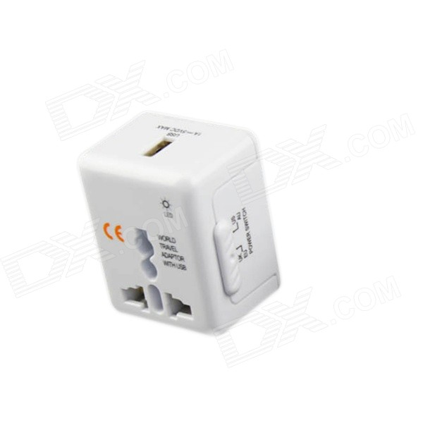 Convertidor USB universal World Travel - blanco