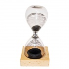WB-9PIG Creative Magnet Hourglass - Transparent + Black