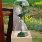 WB-9PIG Creative Magnet Hourglass - Transparent + Green