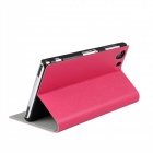 Flip-Open PU Leather Case w/ Stand for Sony Xperia Z1 L39h - Deep Pink