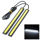 JR-LED 6W 200LM 10000K COB LED Cool White Waterproof Car Daytime Running Light Bar (DC 12V / 2PCS)