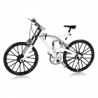1: 6 Scale Assembleia Developmental Mini DIY Modelo da bicicleta da bicicleta Toy - White
