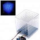 CUBE8 LED Light Cube DIY Accessories Kit - Blue + Transparent + Multicolored