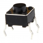 Slightly Touch Button Switches - Black (6 x 6 x 5mm / 20 PCS)