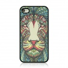 Lion Vein Pattern Hard Back Case for IPHONE 4 / 4S - Black + Red