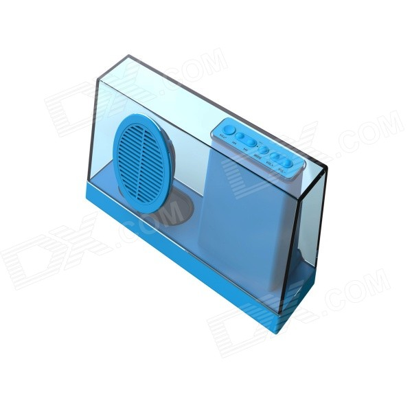 SDY-033 Portable Wireless Subwoofer Bluetooth V4.0 Speaker w/ FM / TF / 3.5mm - Blue