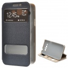 Protective PU + PC Flip-Open Case for Samsung Galaxy Grand 3 - Black
