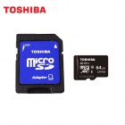 TOSHIBA Micro SDXC TF Card w/ SD Adapter - Black (64GB / Class10 / UHS-I)