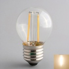 Zweihnder W104 E27 2W 180LM 3500K LED Warm White Light Bulb - Transparent (AC 220 ~ 240V)
