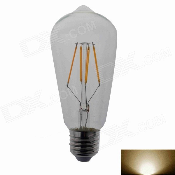 DY-RL-02 E27 4W 500lm 3000K COB LED Warm White Light Bulb(AC 100~240V)