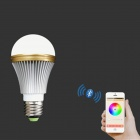 E27 5W Colorful Light Bluetooth Smart LED-lampelampe for IOS / Android