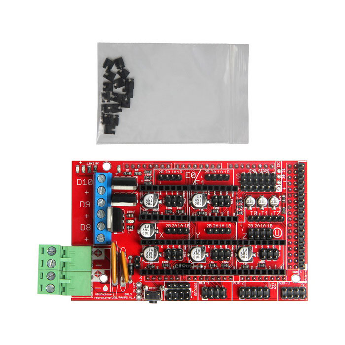 Geeetecch 3D-Printer Reprap hellingen 1.4 Control Board Mega Pololu Shield Red