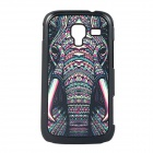 Elephant Leather Vein Pattern Hard Back Case for Samsung Galaxy Ace 2 / i8160 - Black + Deep Pink
