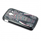 Hard Back Case for Samsung Galaxy Ace 2 / i8160 - Black + Deep Pink