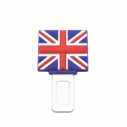 DIY Stylish UK Flag Pattern Seat Belt Anchorage Buckle - Blue + Red