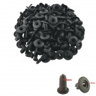 Plastic Car Interior Panel Trim Clip Rivet - Black (100 PCS)