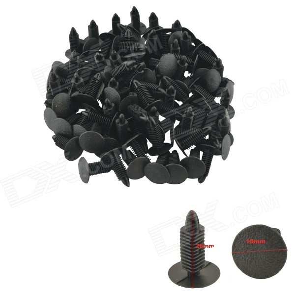 Plastic Rivet Panel Clip Bumper for Car Door Trim - Black (100PCS)