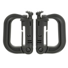 Portable D-Ring Locking Carabiners - Grey (2 PCS)