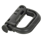 Outdoor Portable D-Shaped PVC Locking Carabiners - Grey (2PCS)