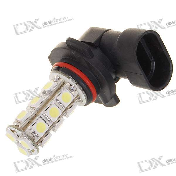 9005 6W 190-Lumen 18x5050 SMD LED Car White Light Bulb (DC 12V) 9006 6w 190 lumen 18x5050 smd led car white light bulb dc 12v