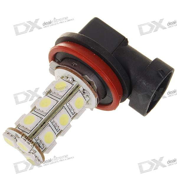 H8 6W 190-Lumen 18x5050 SMD LED Car White Light Bulb (DC 12V) 9006 6w 190 lumen 18x5050 smd led car white light bulb dc 12v