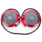 D-500 Bluetooth V2.1 Neckband MP3 Headphone w/ FM / Microphone / TF - Black + Grey + Red